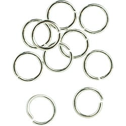 Metal Findings Silver-plated 6mm Open Jump Rings (Pack of 28)