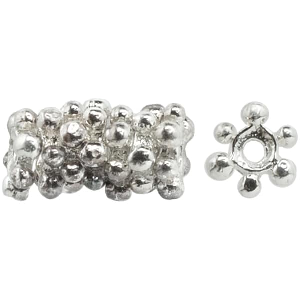 Silverplated 5-mm Wheel Spacer Bead (Set of 12)