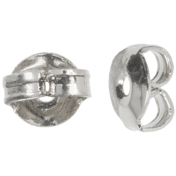 Metal Findings Silver-plated 5mm Earring Nuts (Pack of 30)