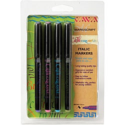 CalliCreative Markers 4/Pkg-Assorted Colors 3.6
