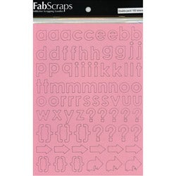 Self-Adhesive Laminated Chipboard Alphabet Pink Letters & Symbols (164-pieces)
