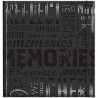 Embossed Gloss Expressions 'Memories' Photo Album (Holds 200 photos)