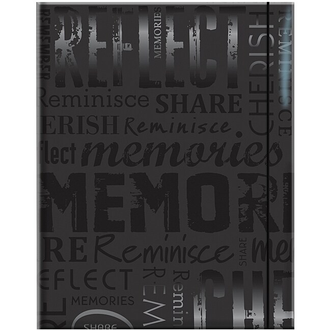 Embossed Gloss 'Memories' Expressions Black Photo Album