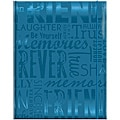 Embossed Gloss 'Friends' Expressions Teal Photo Album
