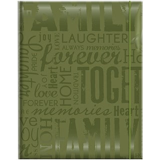 Embossed Gloss 'Family' Expressions Green Photo Album (Holds 100 photos)