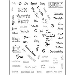 Stamping Scrapping Spellbinders Matching 'Sew Saying' Clear Stamps