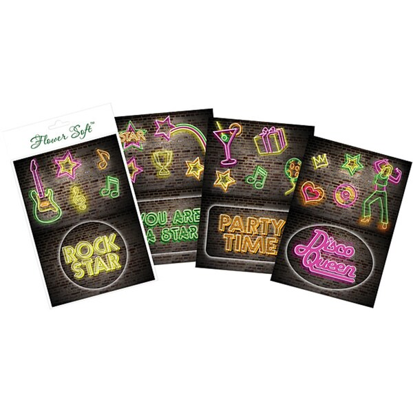 Flower Soft 'Neon Signs' Card Toppers