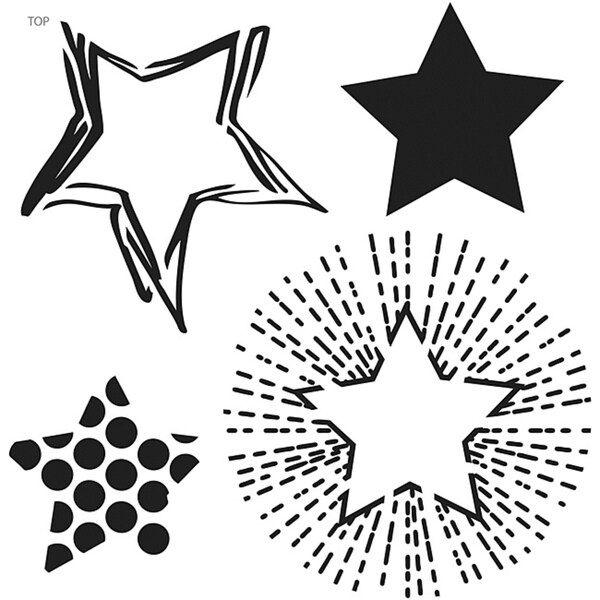 Crafter's Workshop Layered Stars 6x6 Templates