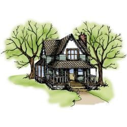 Art Impressions Wilderness Series 'Country House' Cling Rubber Stamp