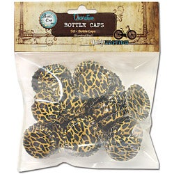 Vintage Collection Standard Cheetah Bottle Caps (Pack of 50)