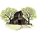 Art Impressions Wilderness Series 'Old Barn' Cling Rubber Stamp