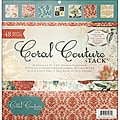 Die Cuts with a Veiw Coral Couture Paper Stack (48 Sheets)