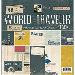 Die Cut with a View World Traveler Paper Stack (Set of 48 Sheets)