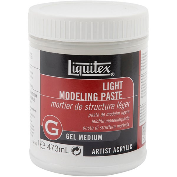 Reeves Liquitex Light Modeling Paste Gel Acrylic Medium (16 Oz)