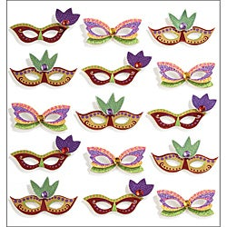 Jolee's Mardi Gras Masks Mini Repeats Stickers