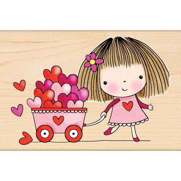 Penny Black Brimming With Love Rubber Stamp
