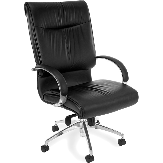 OFM Sharp Series High Back Leather Chair