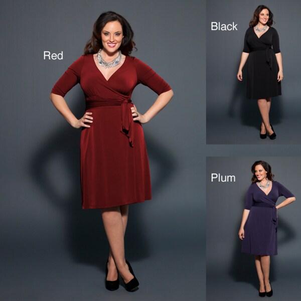 Kiyonna 'Rita' Women's Faux Wrap Dress