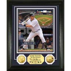 New York Yankees Mark Texeira Gold Coin Photo Mint