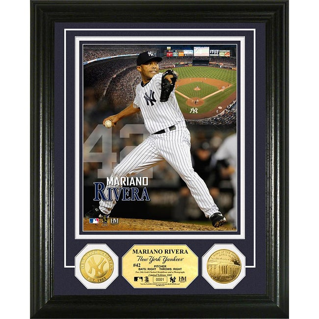 New York Yankees Mariano Rivera Gold Coin Photo Mint