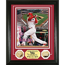 Philadelphia Phillies Jimmy Rollins Gold Coin Photo Mint
