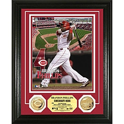 Cincinnati Reds Brandon Phillips Gold Coin Photo Mint