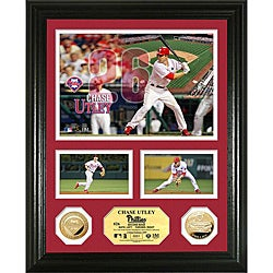 Chase Utley Gold Coin 'Showcase' Photo Mint
