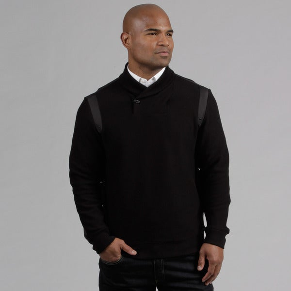 Calvin Klein Men's Black Jacquard Ribbed Jacket FINAL SALE