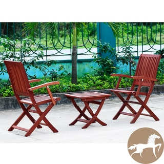Christopher Knight Home Tahitian Deluxe Eucalyptus Wood Outdoor 3-piece Dining Set