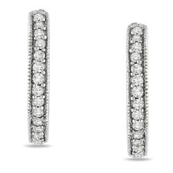 Miadora 14k White Gold 1/4ct TDW Diamond Hoop Earrings (H-I, I1-I2)