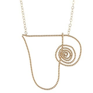 Spiral Heart Pendant Necklace