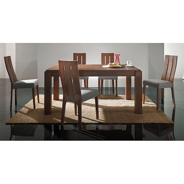 Leah Cocoa Finish 7-piece Dining Set
