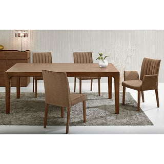 Valarie Cocoa Finish 7-piece Dining Set