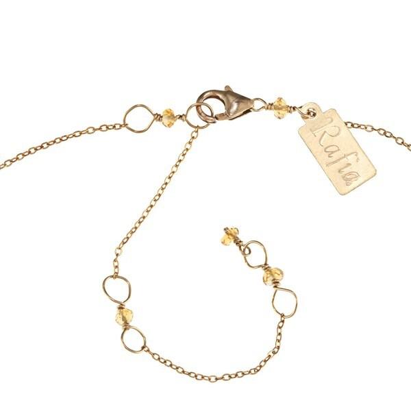 Rafia 14-karat Gold-filled Citrine Necklace with 3mm Rondelles