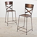 Set of 2 Jabalpur Copper Counter Stool (India)