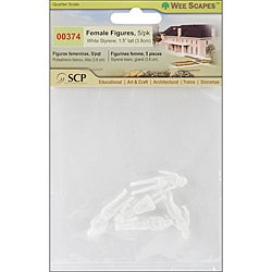 Wee Scapes Miniature Female White Figures (Pack of 5)