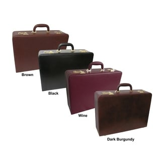 Amerilether Large Expandable Faux Leather Attache Case