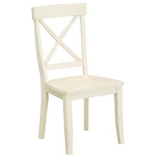 Antique White Finish Dining Chairs (Set of 2)