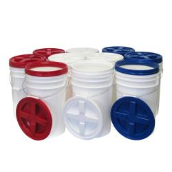 Augason Farms Gamma-seal Water-Resistant Pail Kit (Pack of 10)