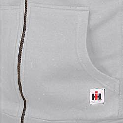 Farmall IH Men's Big/ Tall Sherpa Lined Grey Hoodie