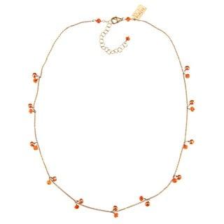 Rafia 14k Gold-fill Orange Carnelian and  Pearls