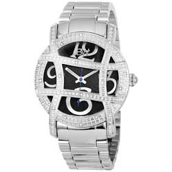 JBW Women's Olympia Stainless-Steel Diamond Japanese-Quartz Watch