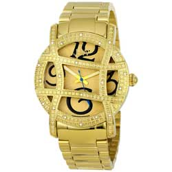 JBW Women's 'Olympia' Gold-Tone Diamond Watch
