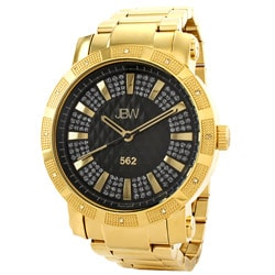 JBW Men's '562' Pave Dial 18k Goldplated Diamond Watch