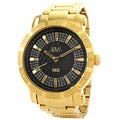 JBW Men's '562' Pave Dial 18k Gold-plated Diamond Watch
