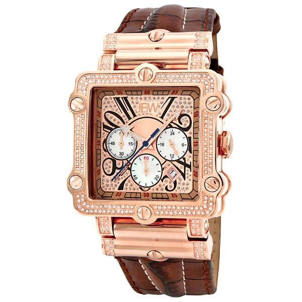 JBW Men's 'Phantom' Rose Goldplated Chronograph Diamond Watch