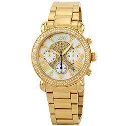 JBW Women's 'Victory' Gold Diamond Chronograph Watch