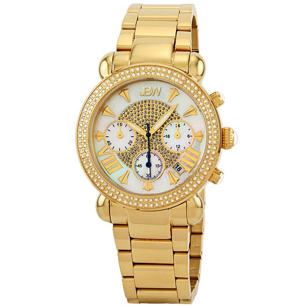 Jbw Women'S Gold Diamond Chronograph Watch 8990211