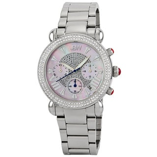 JBW Women's 'Victory' Stainless Steel Diamond Chronograph Watch