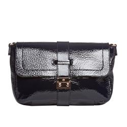 Mulberry Navy Patent Leather Shoulder Handbag
